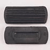 Black Ribbed Strirrup Pads - Pair