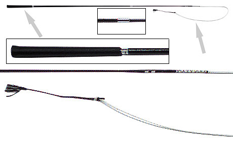 Horsemaster Telescopic Driving Whip