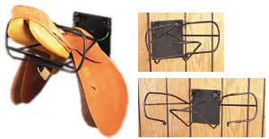 Lock-Up English Saddle Rack
