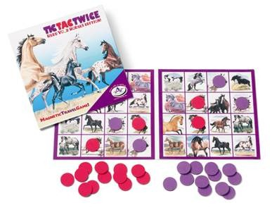 Herd Your Horses Magnetic Tic Tac Twice Game