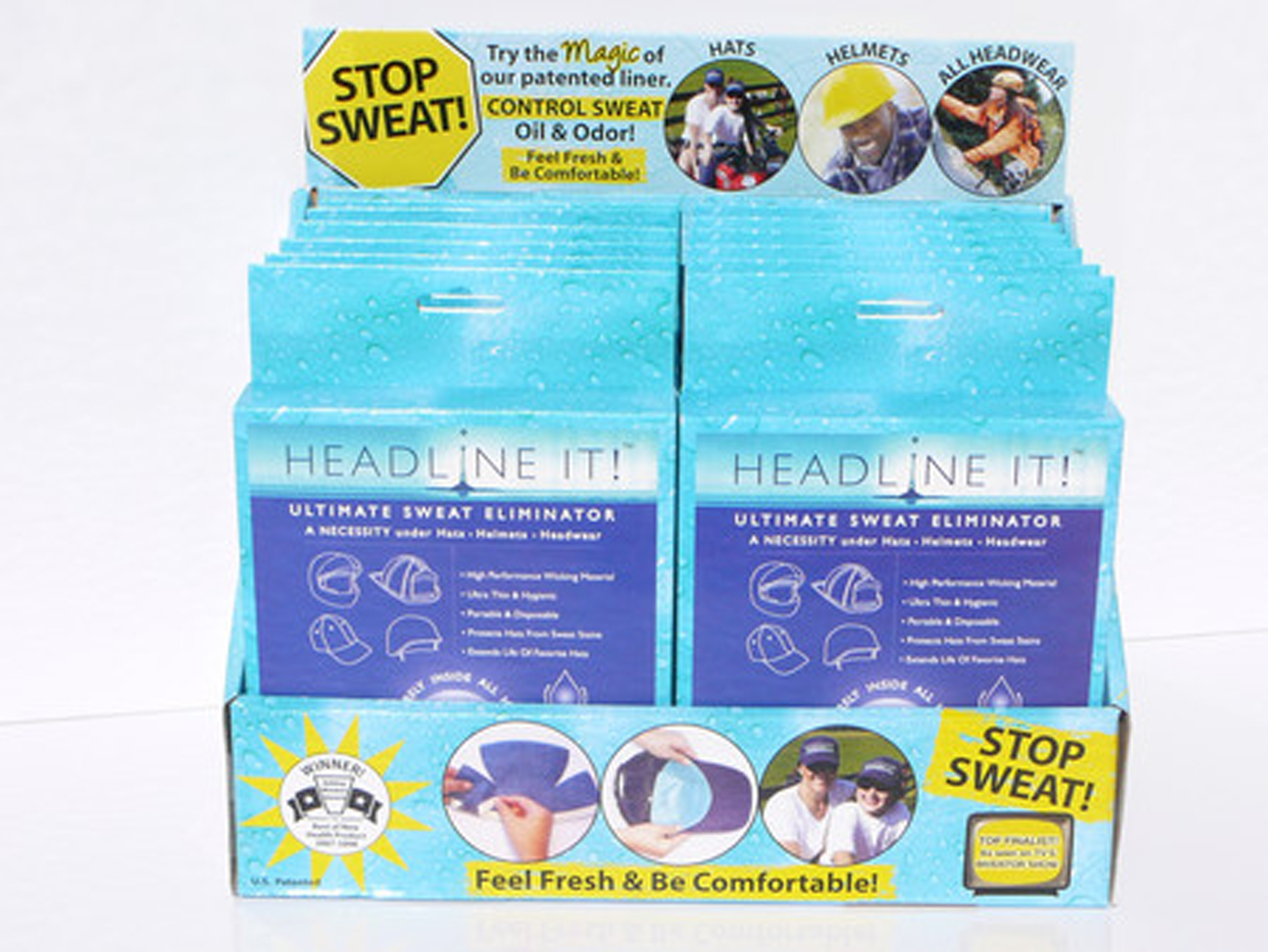 Headline IT! Helmet Liners- Counter Display with 12 Boxes of 10