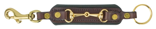 Perri's Padded Leather Bit Key Chain with Snap