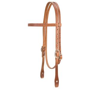 Weaver Single-Ply Browband Headstall with Nickel Plated Hardware