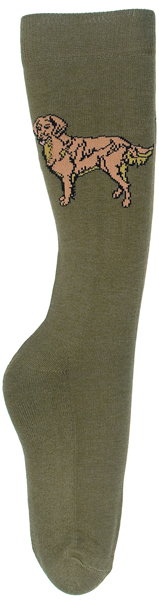TuffRider Ladies Bamboo Golden Retriever Socks