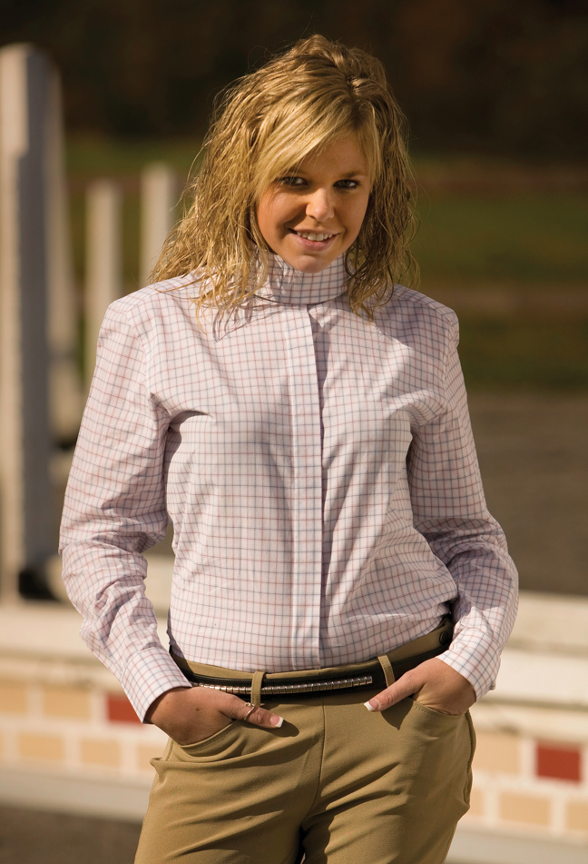 TuffRider Ladies Longsleeve Somerset Show Shirt
