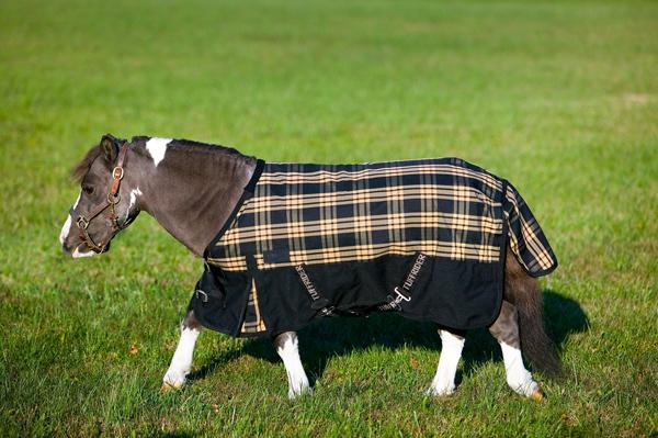 TuffRider 600D Plaid Thermo Manager Lined Miniatures Blanket