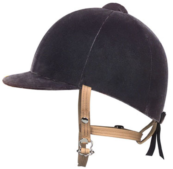 IRH Royale Cotton Velvet Show Riding Helmet