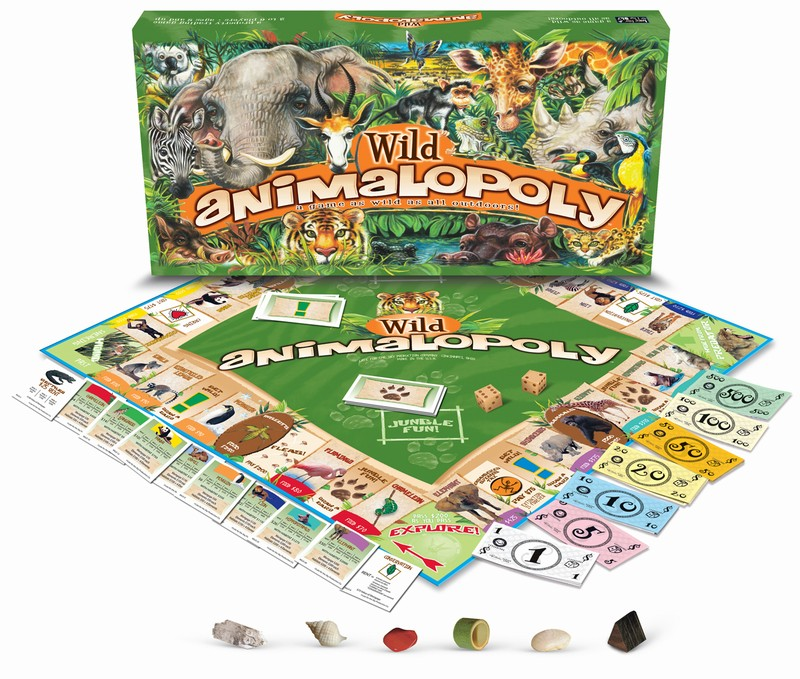 WILD ANIMAL-OPOLY: A Board Game With Some Wild Animal Twists !