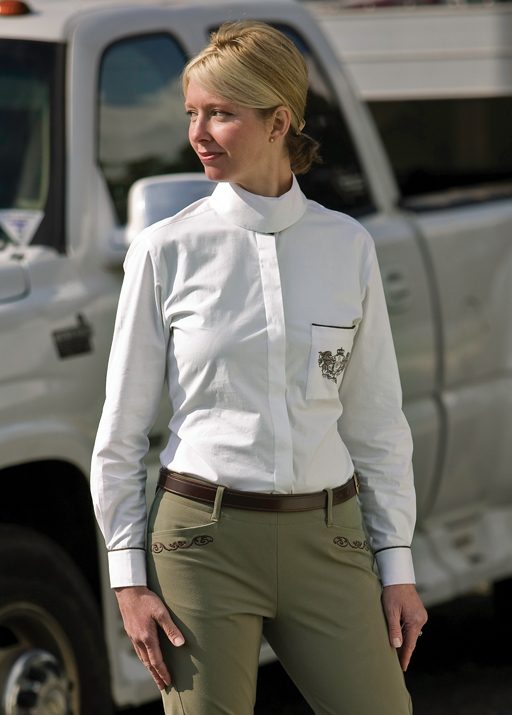 Equine Couture Ladies Longsleeve Heritage Show Shirt