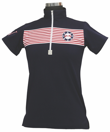 Equine Couture Patriot Polo Short Sleeve Ladies
