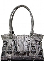 Larger Gator Print Handbag