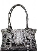 Larger Gator Print Handbag