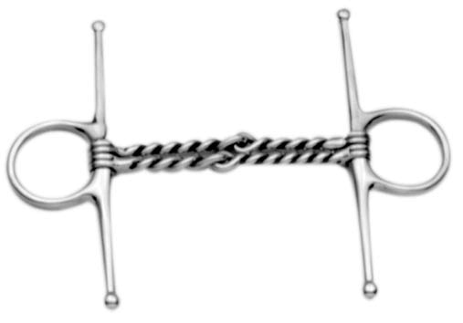"Korsteel Double Twisted Wire Full Cheek - 4.5"" Cheeks"