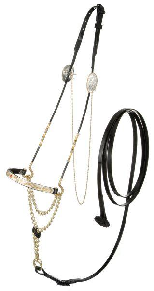 Royal King Single Stone Nose Miniature Show Halter
