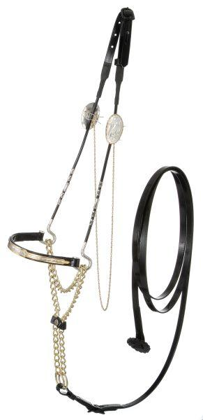 Royal King Gold/Silver Nose Miniature Show Halter