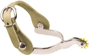 Abetta Chromed Steel Roping Spurs With Straps