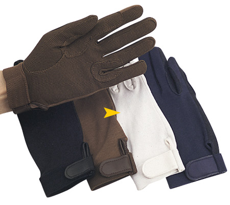 Cotton Gripper Riding Gloves with Pebble Palm
