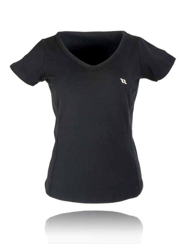 Back On Track V-Neck T-Shirt (form-fitting)