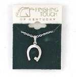 Finishing Touch Finishing Touch Horseshoe With Stone Pendant - Imit. Rhod.