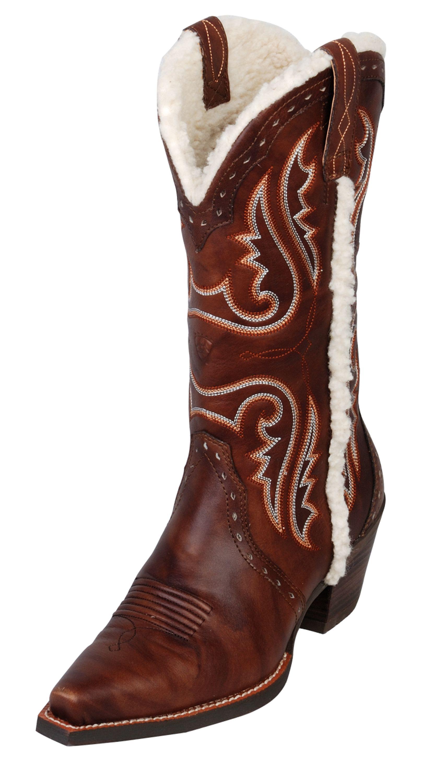 Ariat Ladies Heritage X Toe Alpine Boot- Yukon Brown/5.5