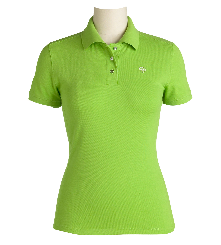 Ariat Ladies Short Sleeve Prix Polo - White/XLarge