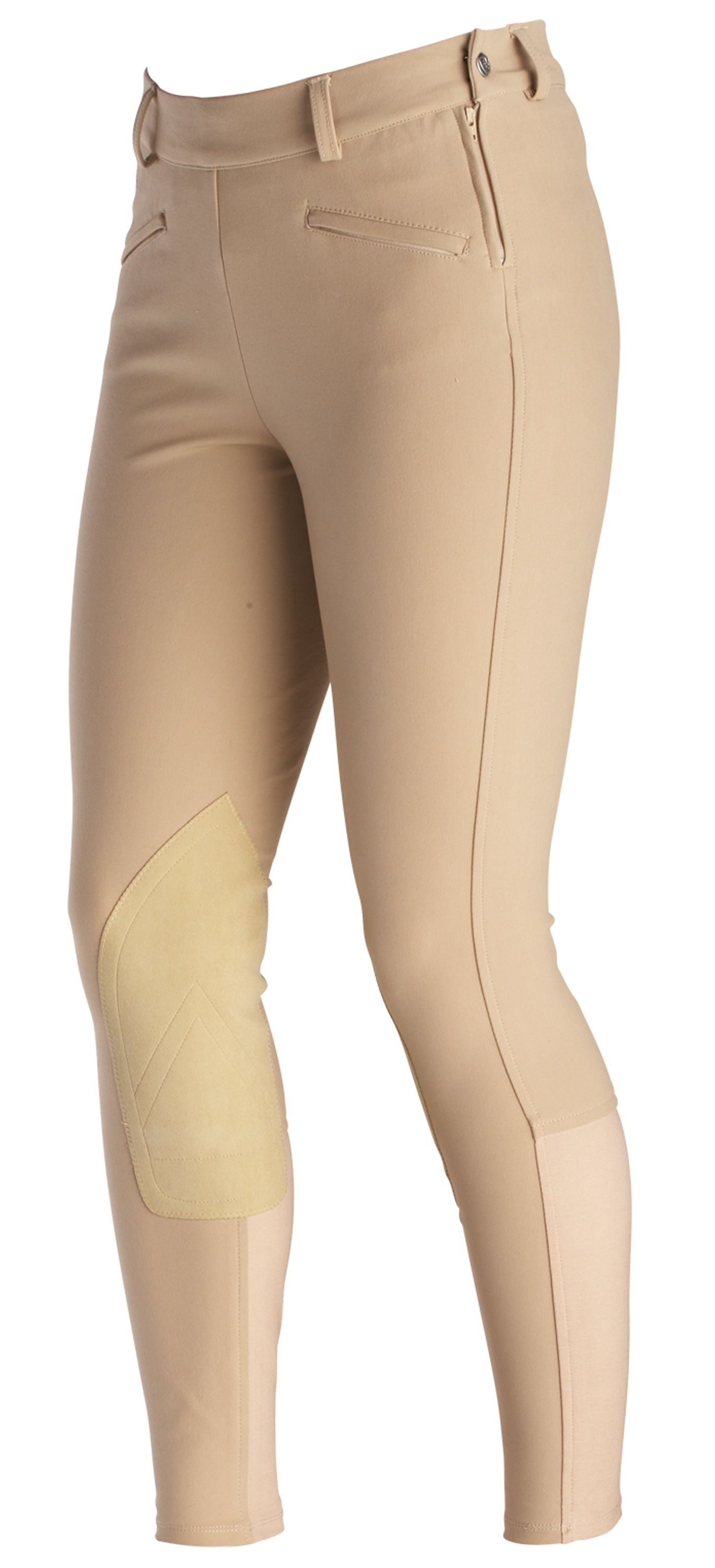 Ariat Ladies Performer Knee Patch Riding Breeches -Tan/30 Long
