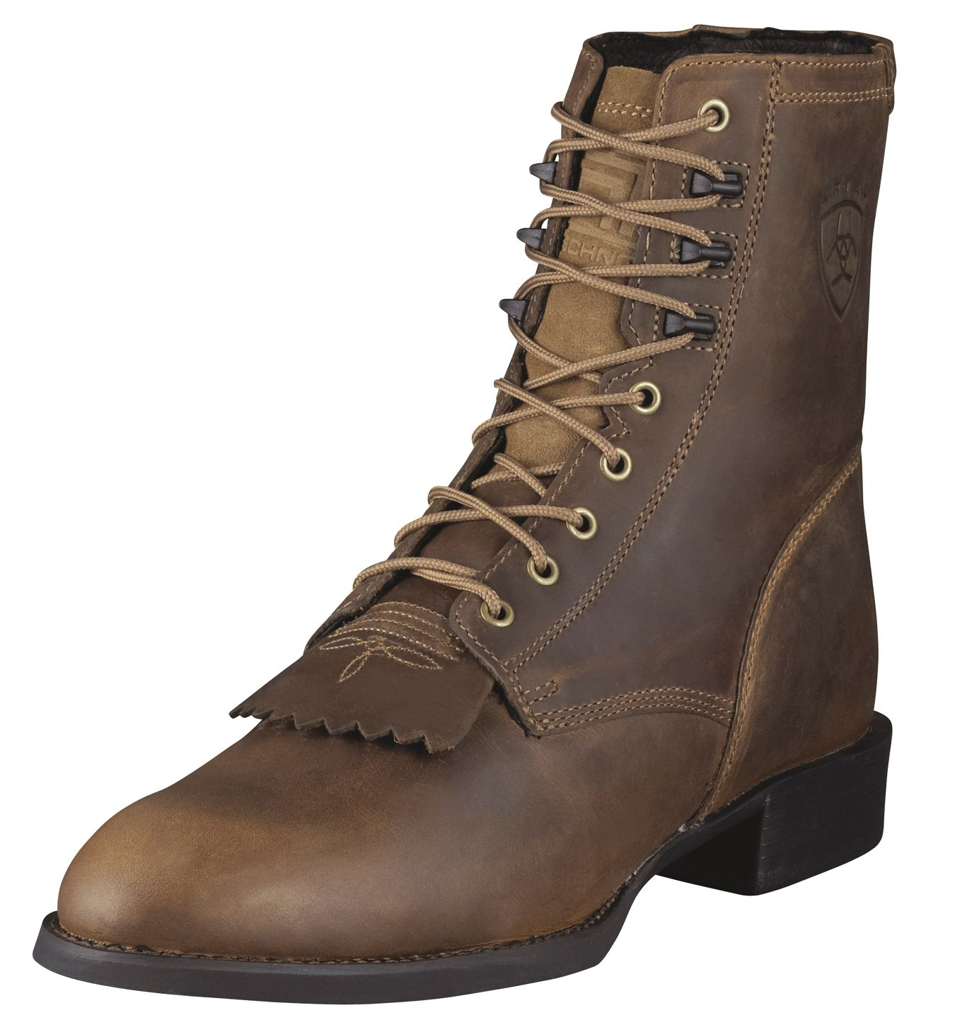 Ariat Mens Distressed Brown Heritage Lacer Boots