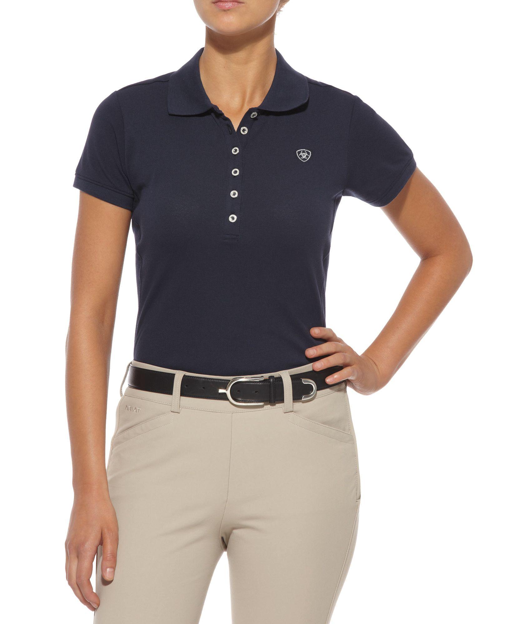 Ariat Prix Classic Polo - Ladies, Navy