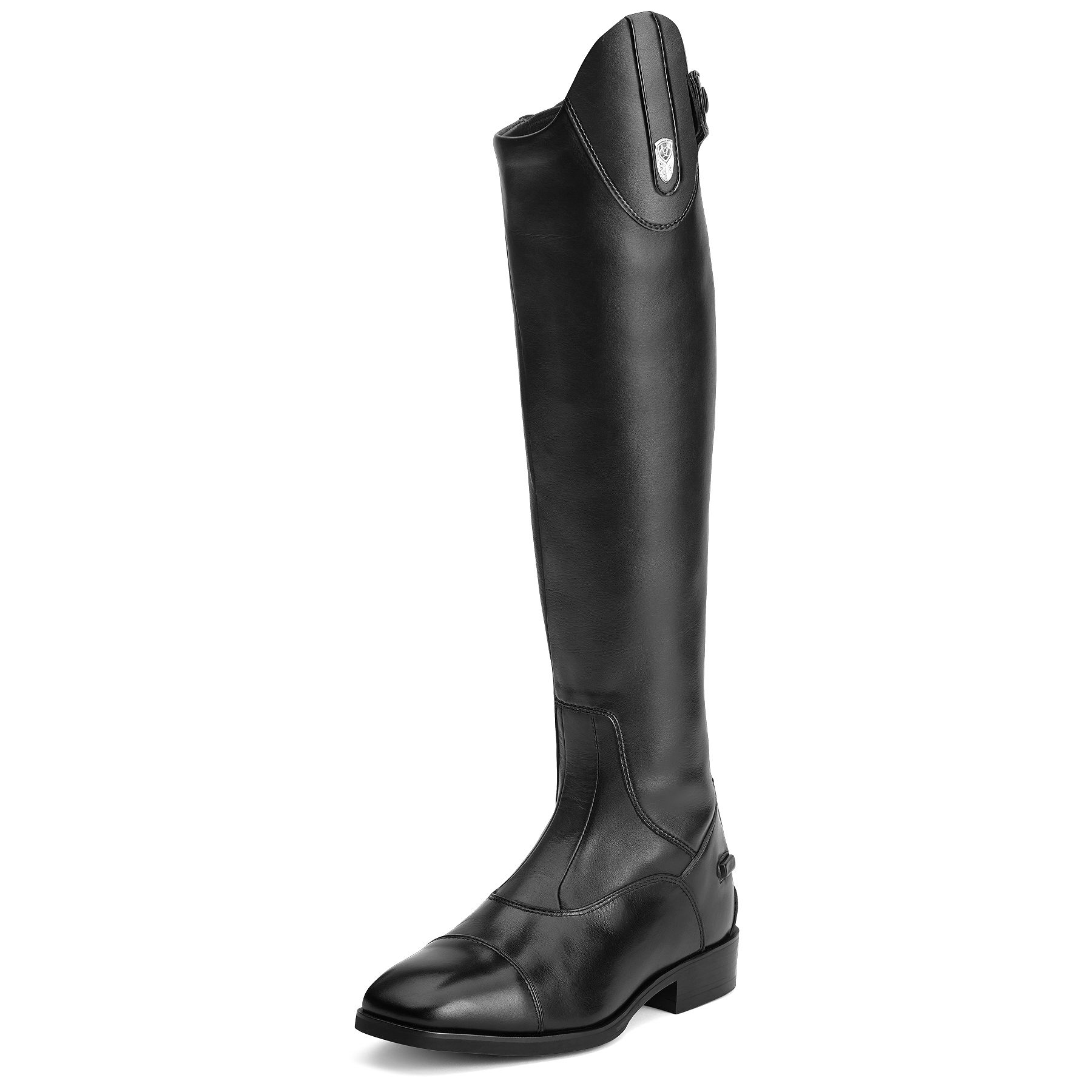Ariat Monaco Stretch Zip Tall Boo- Ladies, Black