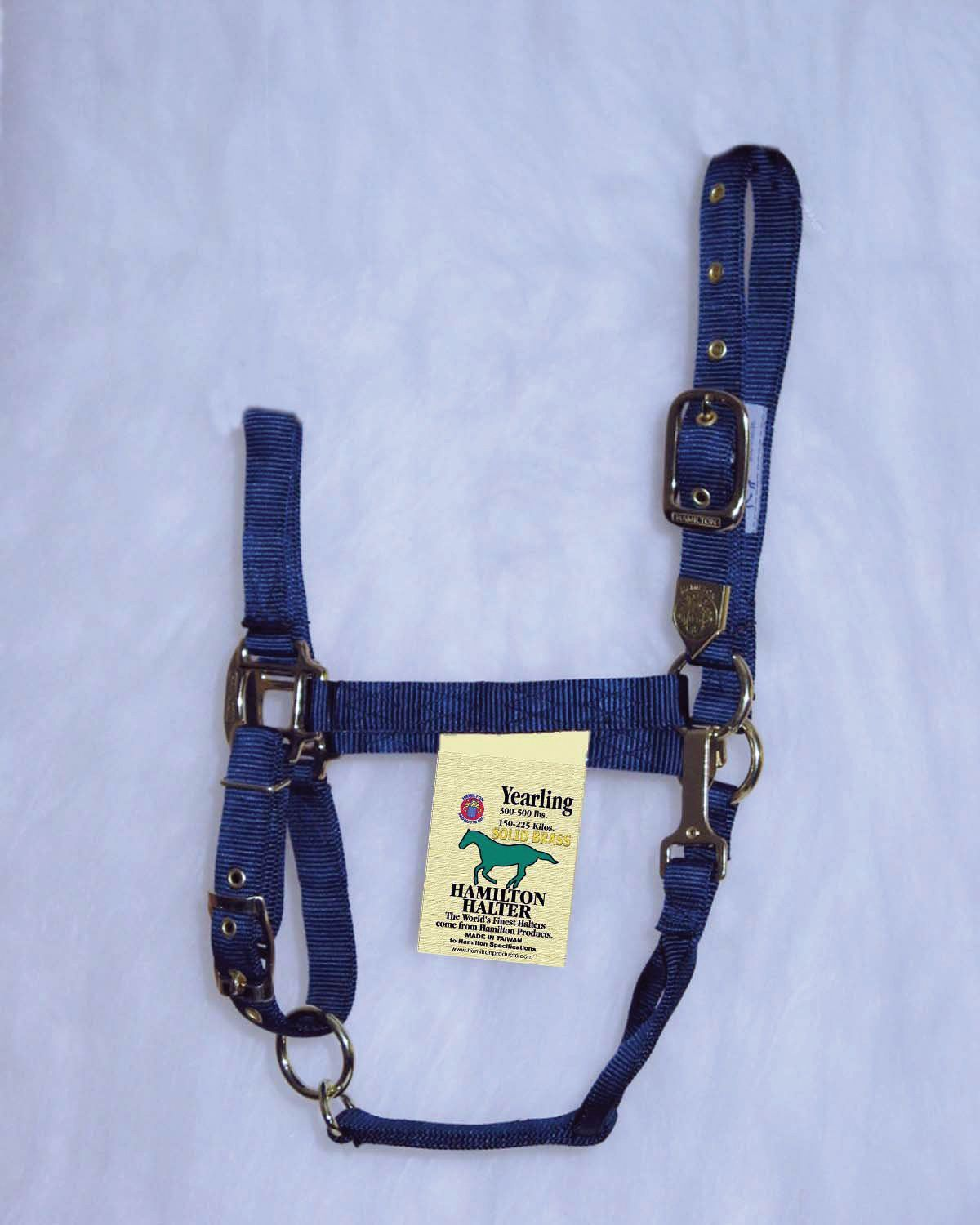 Hamilton Yearling Halter with Adjustable Chin and Snap