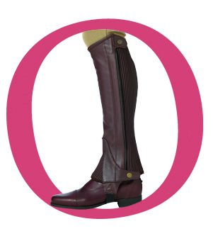 Ovation Ladies Pro Top Grain Half Chaps