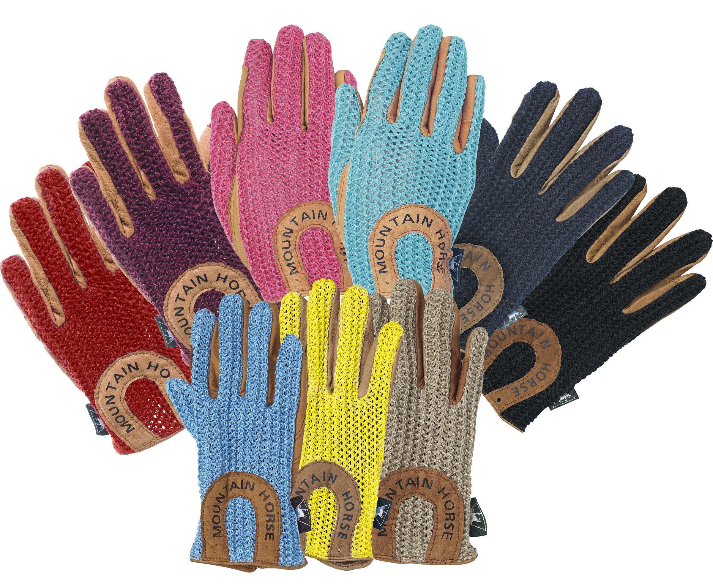 Mountain Horse Kids Crochet Riding Gloves