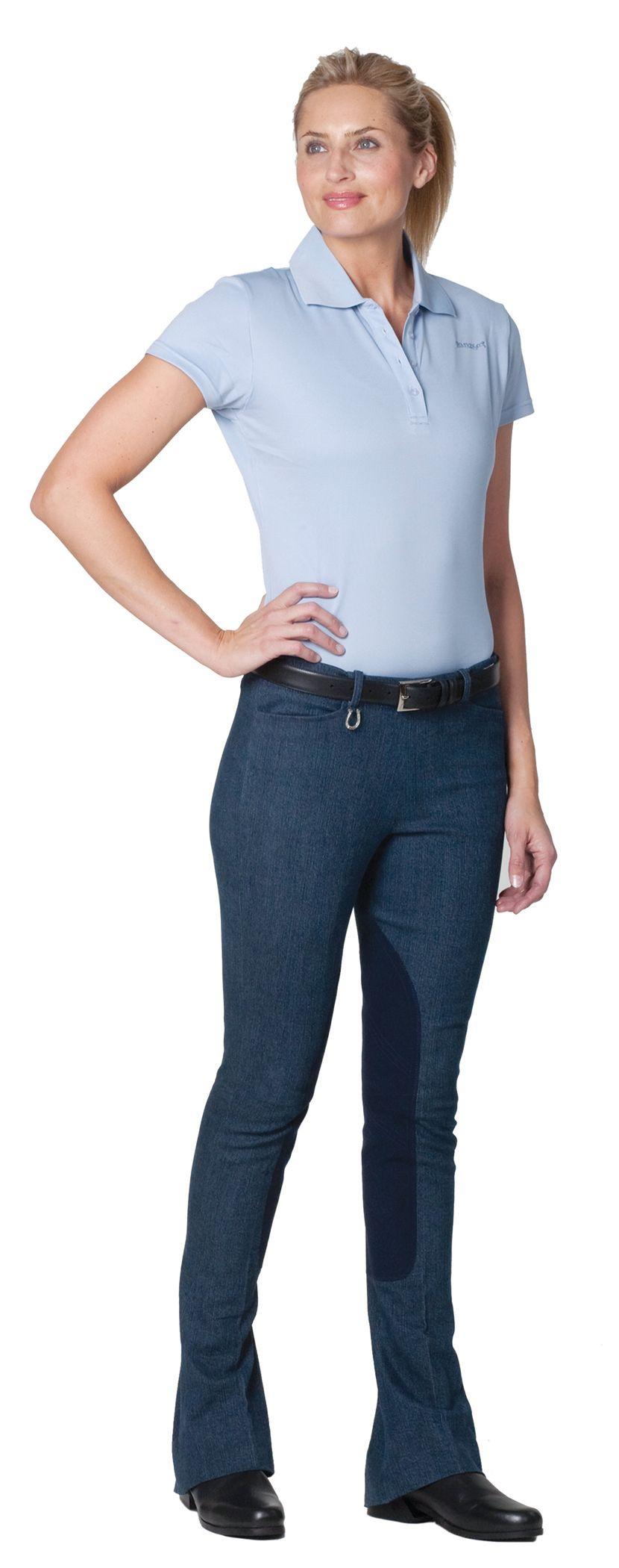 Ovation Ladies Side Zip Lucky Brand Denim KY Jodhpurs