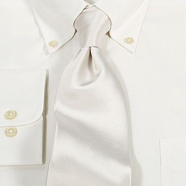 Essex Classics Mens White Silk Tie