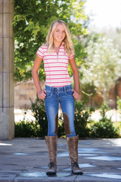 Goode Rider Horsebit Jeans - Girls