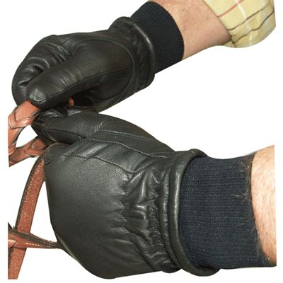 Intrepid Unisex Leather Winter Riding Gloves