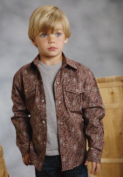 Roper Amarillo Western Shirt - Boys