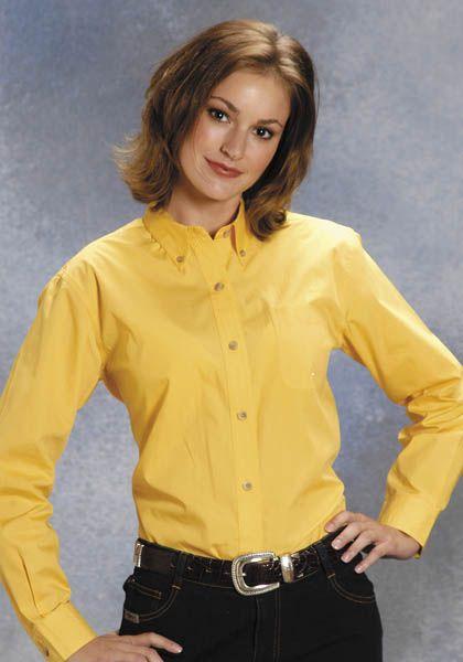 Roper Button Down Collar Western Shirt - Ladies