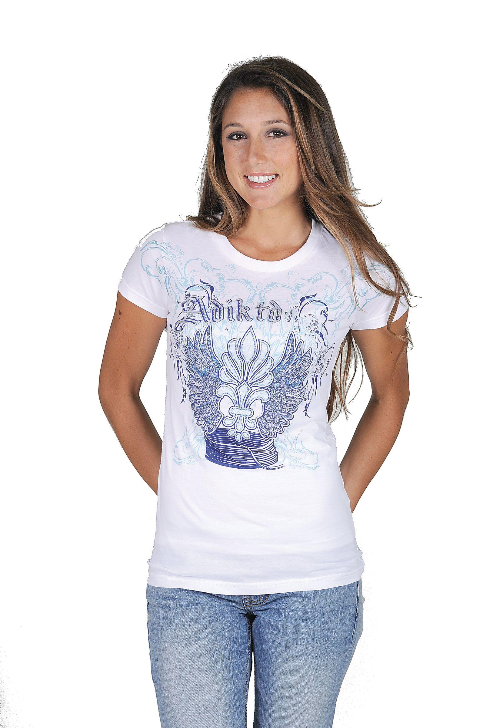 Adiktd Ladies Cotton Jersey Tee Shirt
