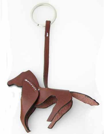 LILO La Espuela Equus Horse Leather Key Ring