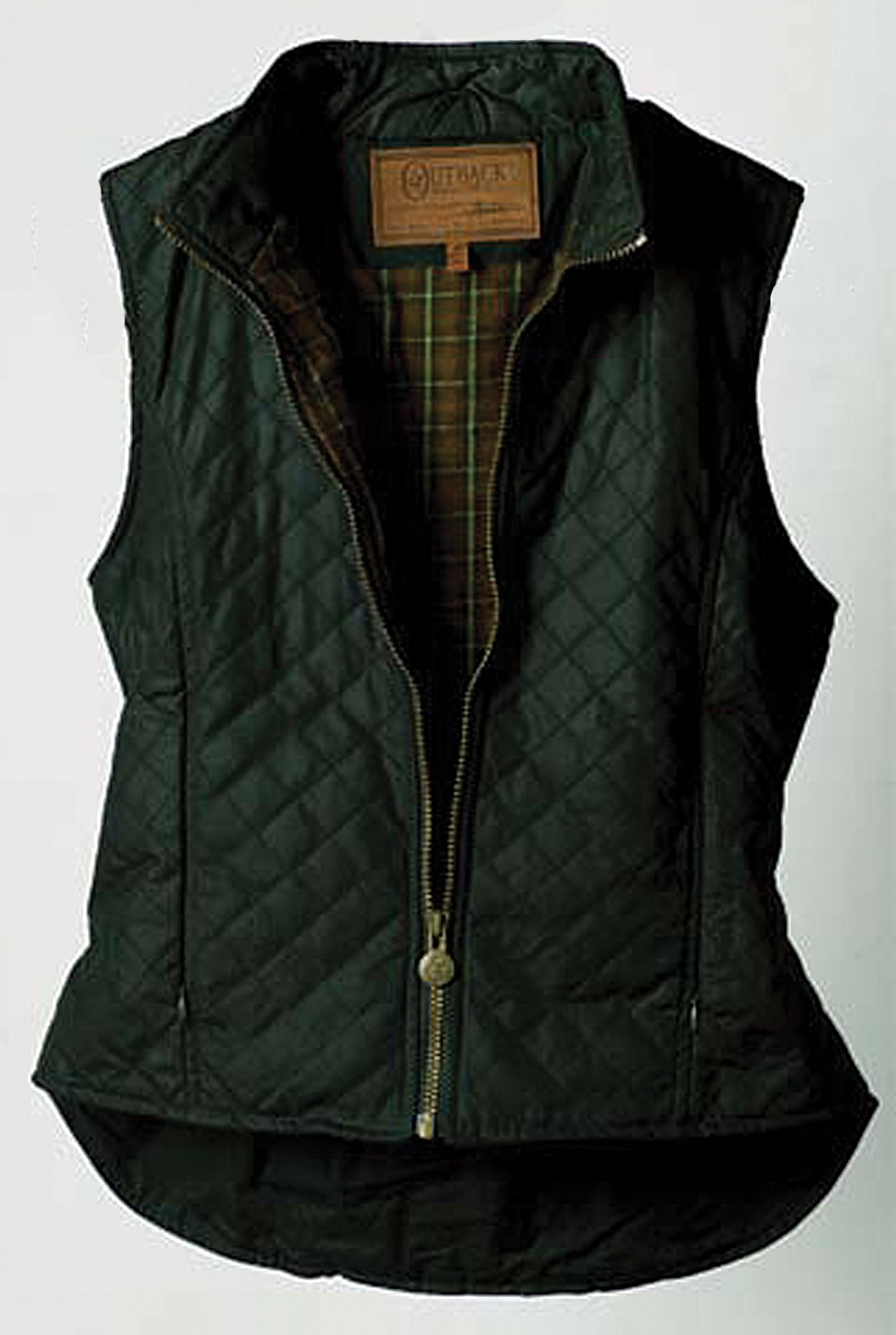 Outback Trading Ladies Quilted Oilskin Vest