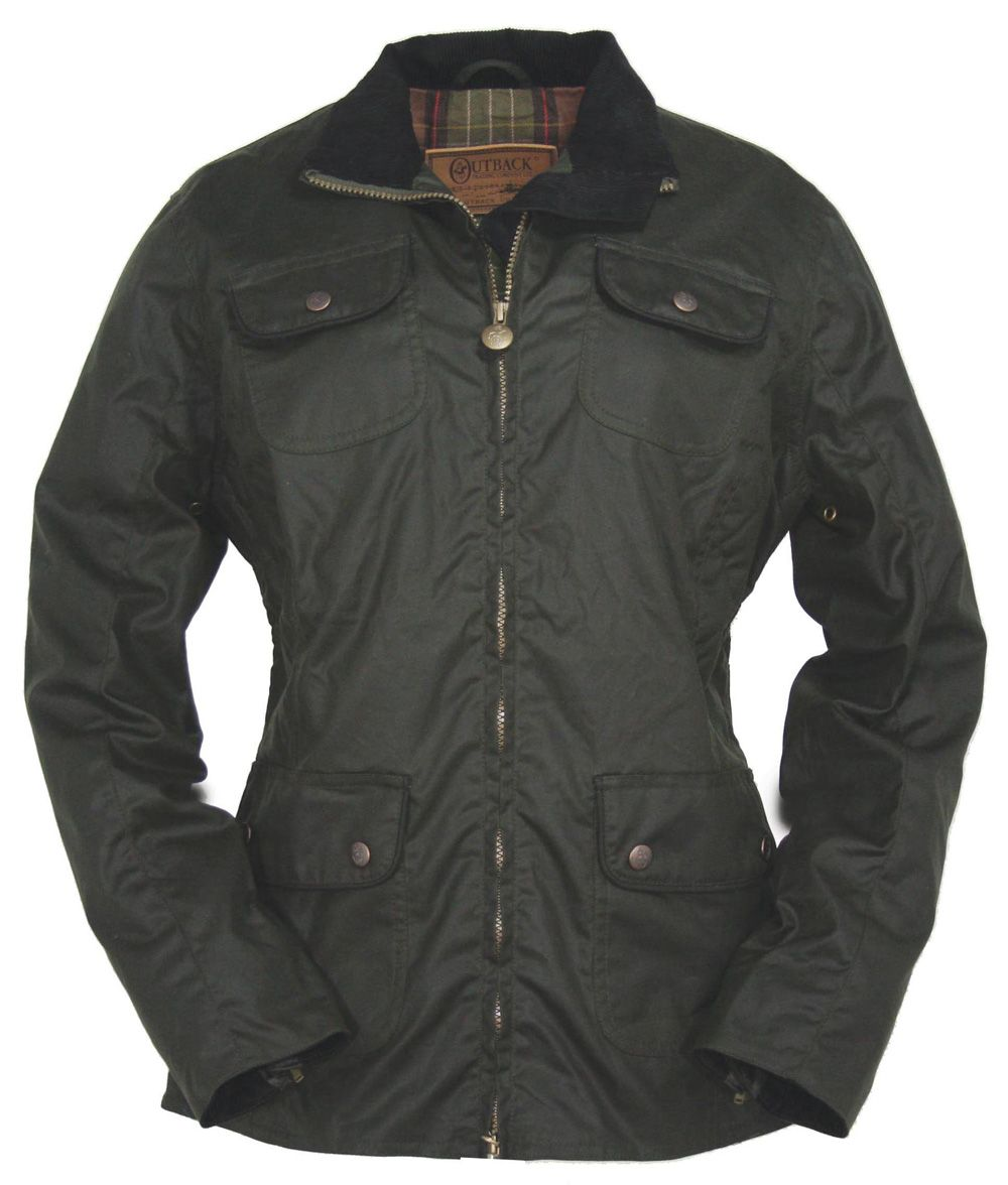 Outback Ladies Under the Wire Oilskin Jacket