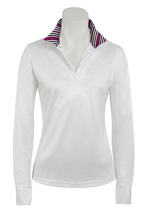 RJ Classics Sterling Icefll Show Shirt - Ladies, White/Pink Stripe