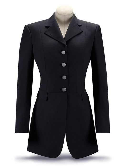 RJ Classics Essential Washable Dressage Coat -Ladies Plus Size, Black