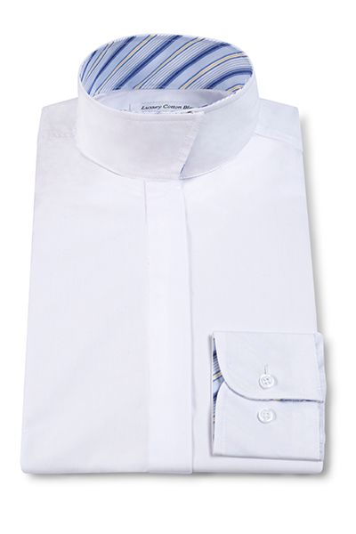 RJ Classics Essential Short Sleeve Show Shirt - Kids, White/Blue