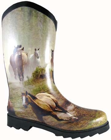 Smoky Mountain Ladies Rubber Boots with Wide Calf