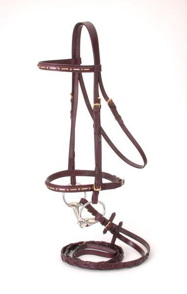 Silver Fox Gold Bar Jump Bridle