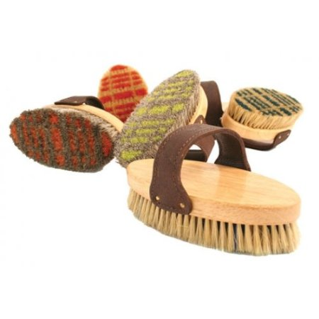 Legends Horsehair/Boar Bristle Plaid Pattern Body Brush