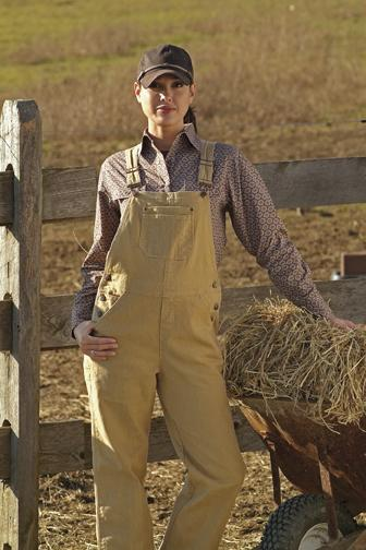 Outback Trading Ladies Barn Girl Overalls