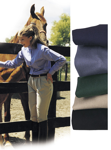 Hawthorne Woodhall Pleated Front Ladies Breeches Knee Patch